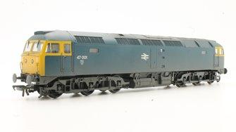 Class 47 001 BR Blue Weathered Diesel Locomotive
