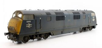 Custom Finished O Gauge Class 42 Warship 'Zebra' D866 BR Blue Weathered Diesel Locomotive