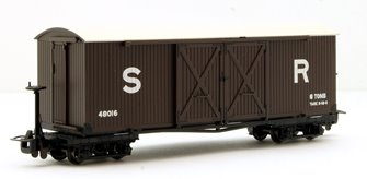 Covered Goods Wagon in SR Brown livery