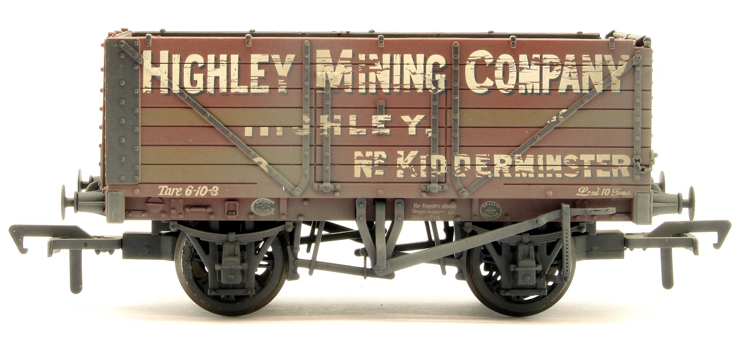 7 Plank End Door Wagon 'Highley Mining Company Ltd' Weathered