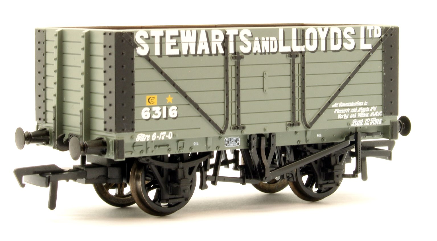 8 Plank Fixed End Wagon Fixed 'Stewart & Lloyds Ltd'