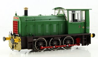 BR Hunslet Class 05 Diesel Shunter 'CIDER QUEEN' Green with Wasp Stripes (Industrial) - Type A