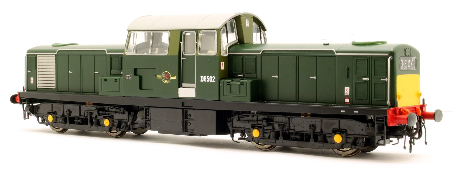 Class 17 Clayton BR Green with Small Yellow Panels Diesel Locomotive D8502