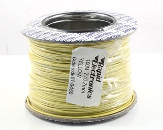 100M 7/0.2MM Yellow Electrical Wire