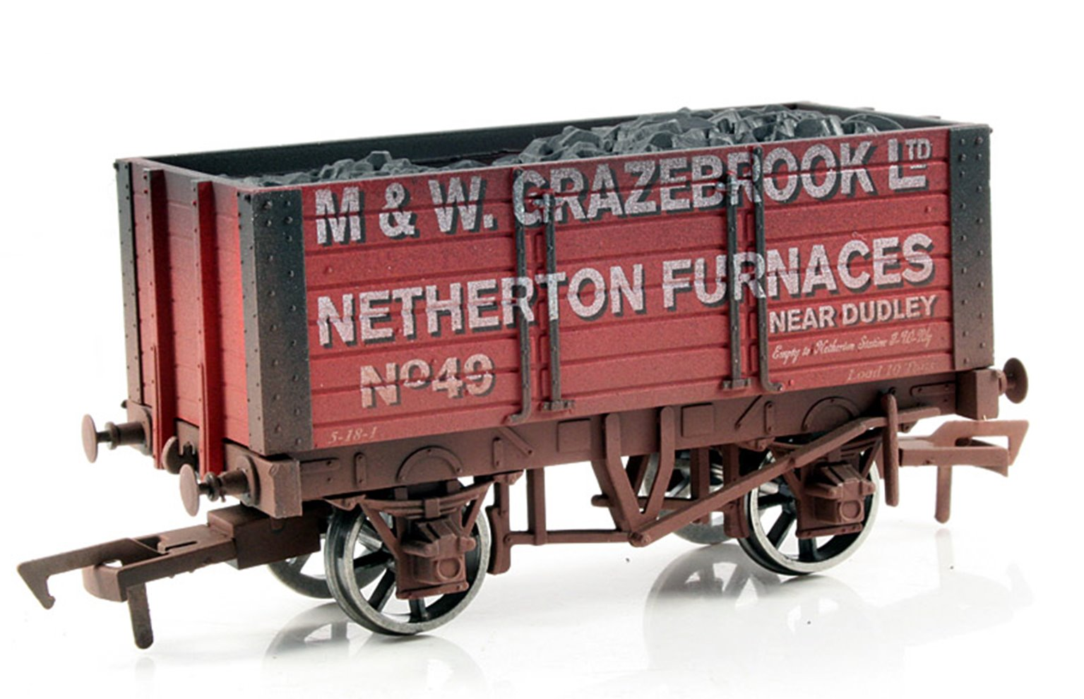 Grazebrook 7 Plank wagon, 9ft chassis - Weathered