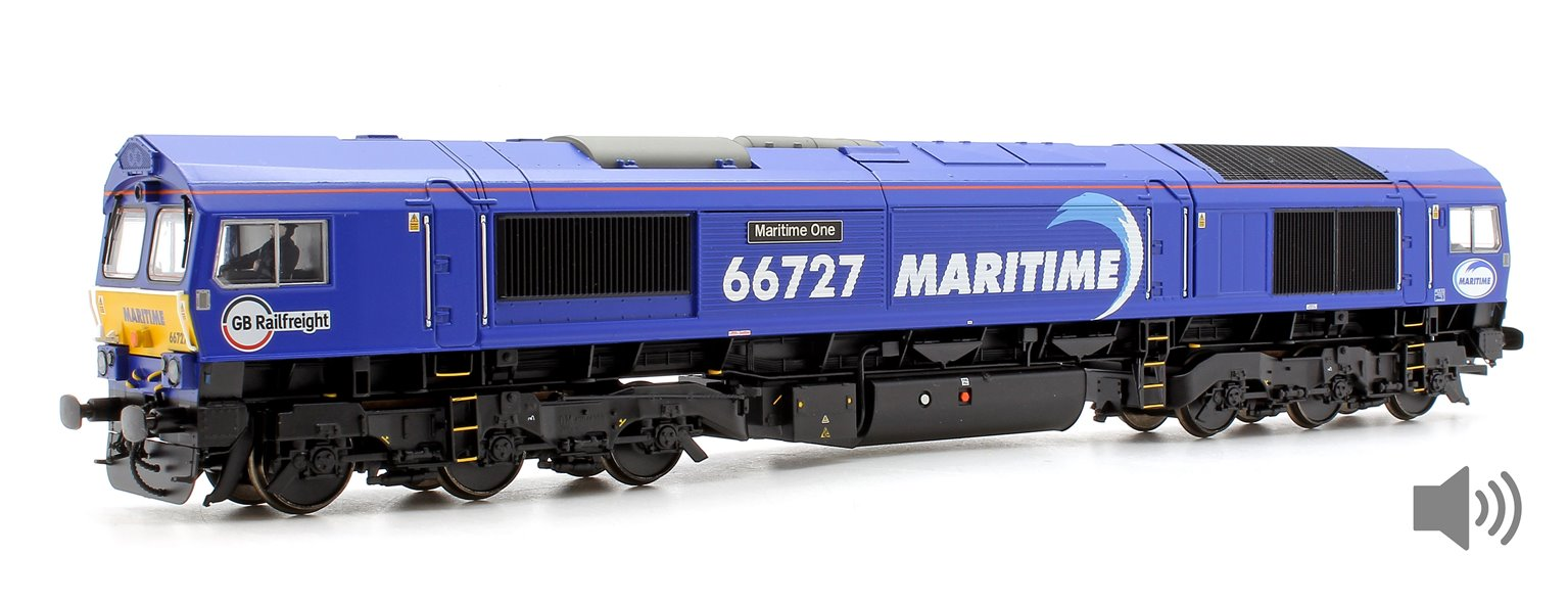 Class 66 727 'Maritime One' GBRf Maritime Diesel Locomotive DCC Sound