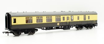 BR Mk1 Coach Corridor Brake 2nd Class, Chocolate and Cream  W34290
