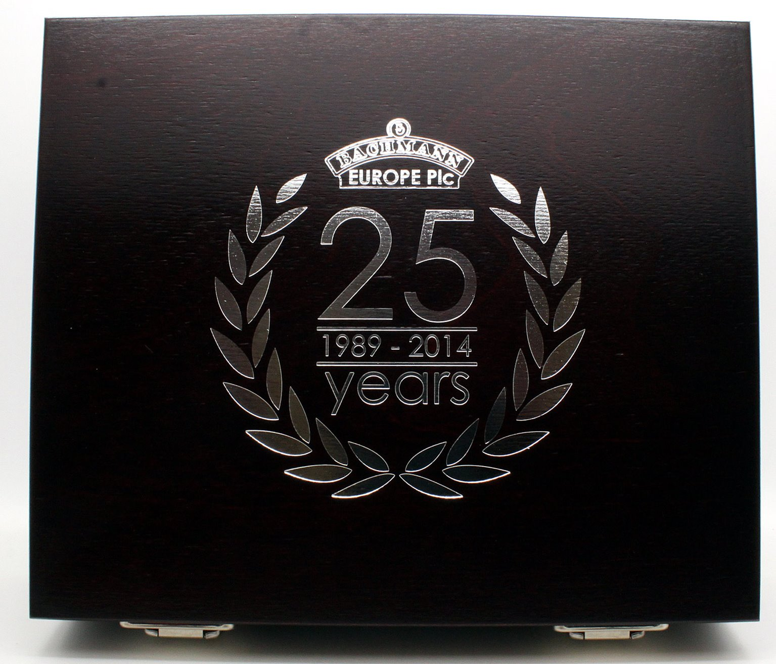 Limited Edition Silver Anniversary Twin Locomotive Wooden Box