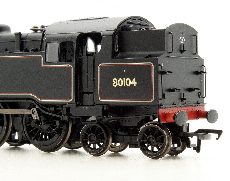 BR Standard Class 4MT Tank 80104 BR Lined Black Late Crest 2-6-4 Tank Locomotive