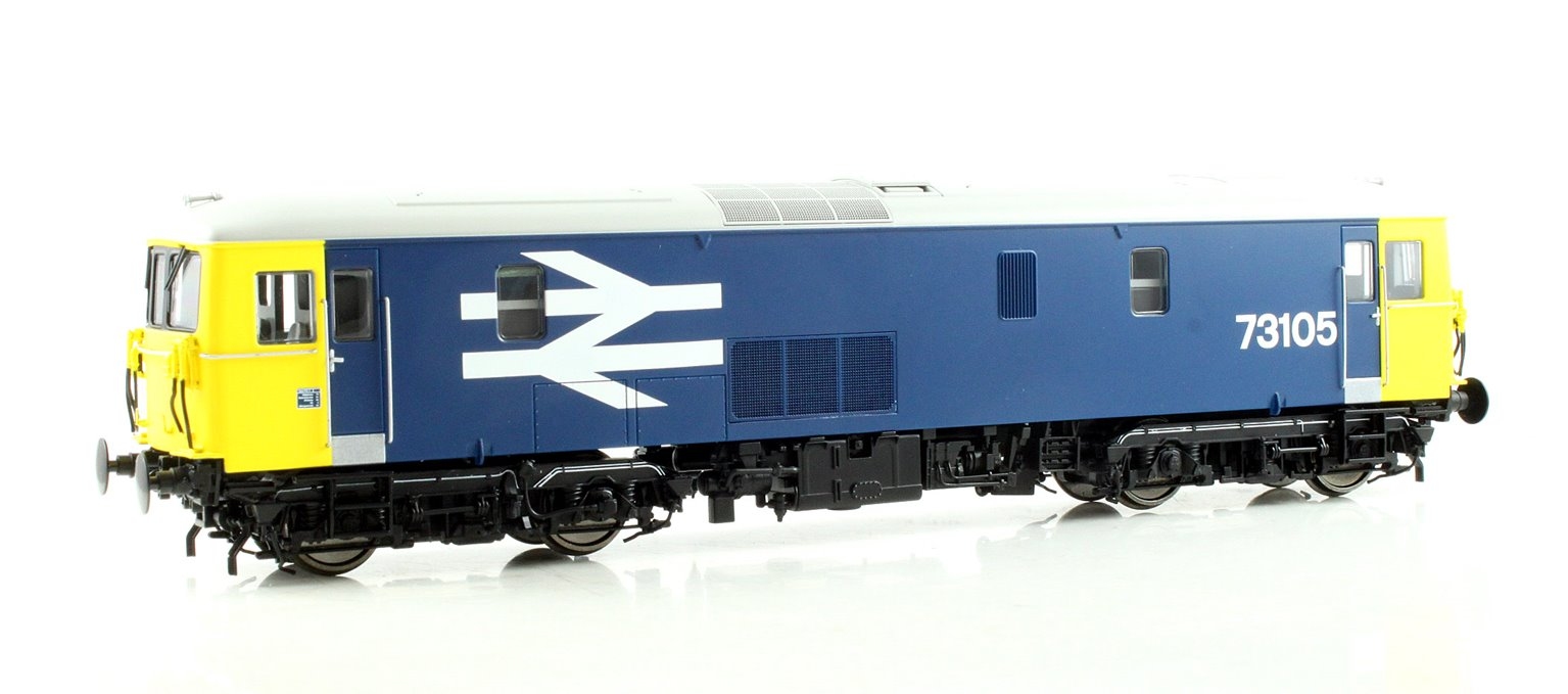 Class 73 electro-diesel 73105 in BR blue with large logo DCC Fitted