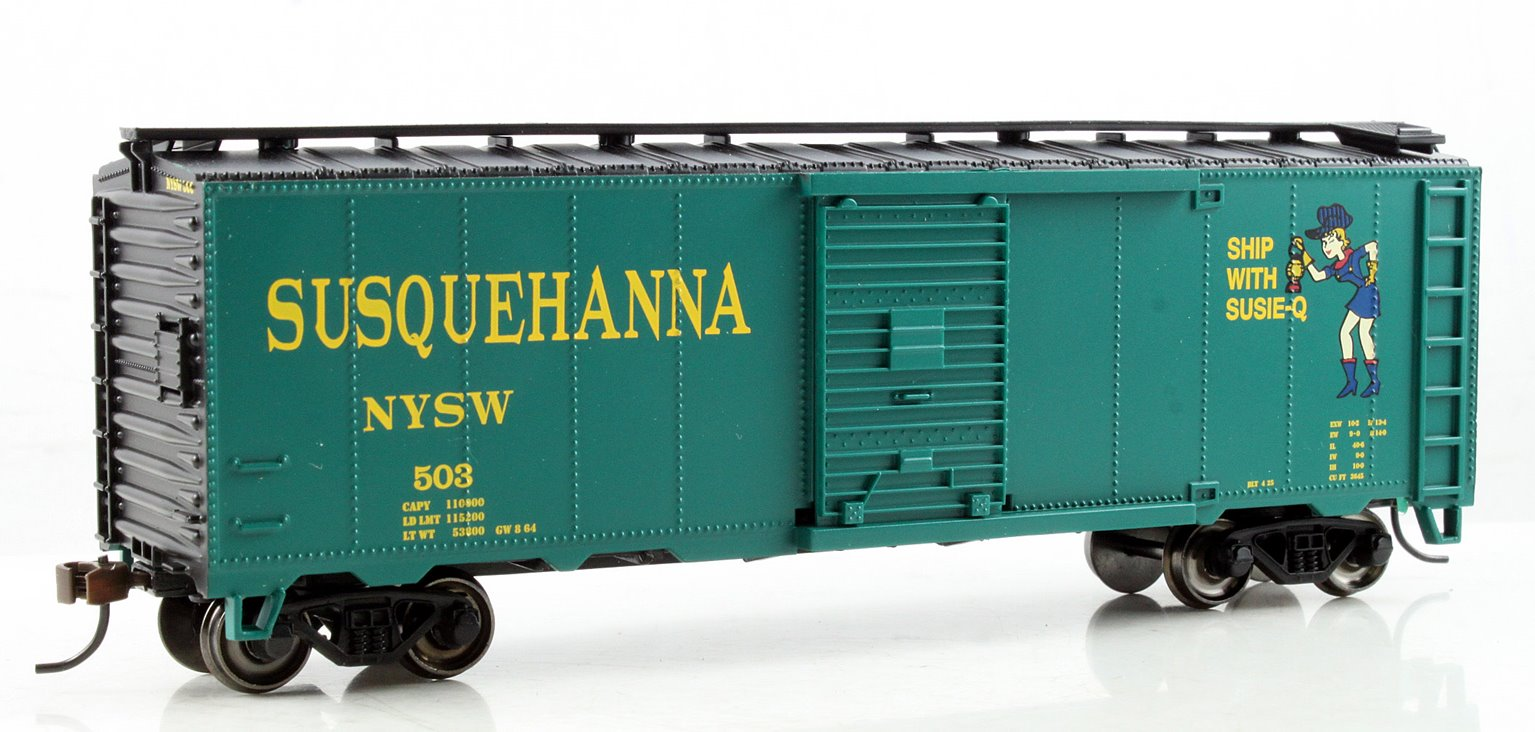 40' Box Car New York, Susquehanna & Western (Suzy Q)