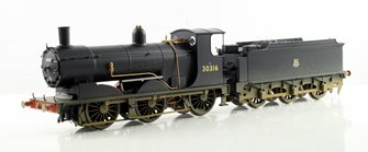 BR 0-6-0 Drummond 700 Class - Early BR, Weathered #30316