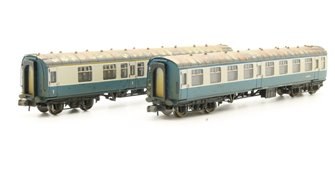 N Scale Mk1 Coach Pack 'Works Test Train' BR Blue & Grey Weathered
