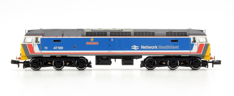 Class 47 581 'Great Eastern' Network South East Diesel Locomotive