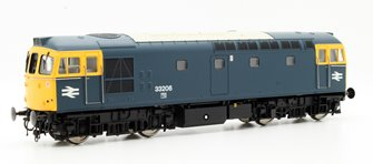 Class 33/2 33206 In Blue With Full Yellow Ends