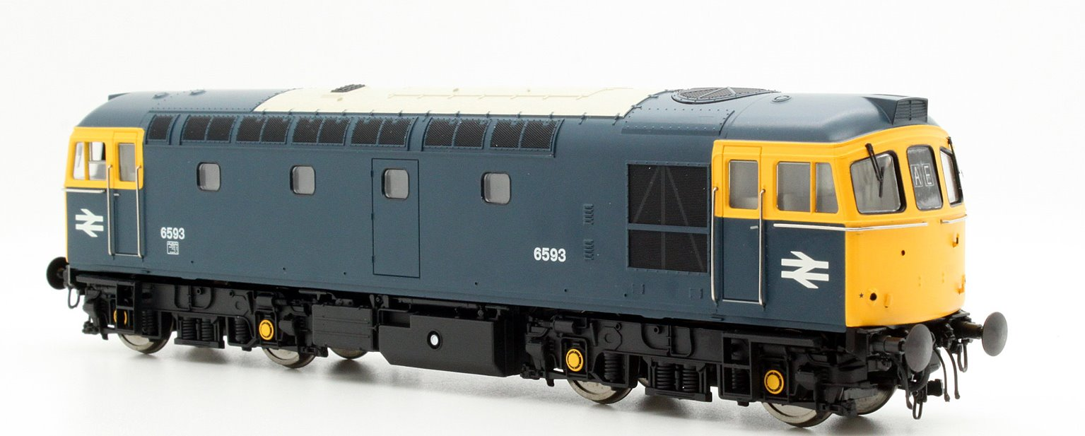 Class 33/2 6593 In Blue With Full Yellow Ends