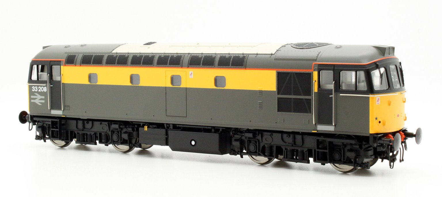 Class 33/2 33208 In Engineers Grey/Yellow