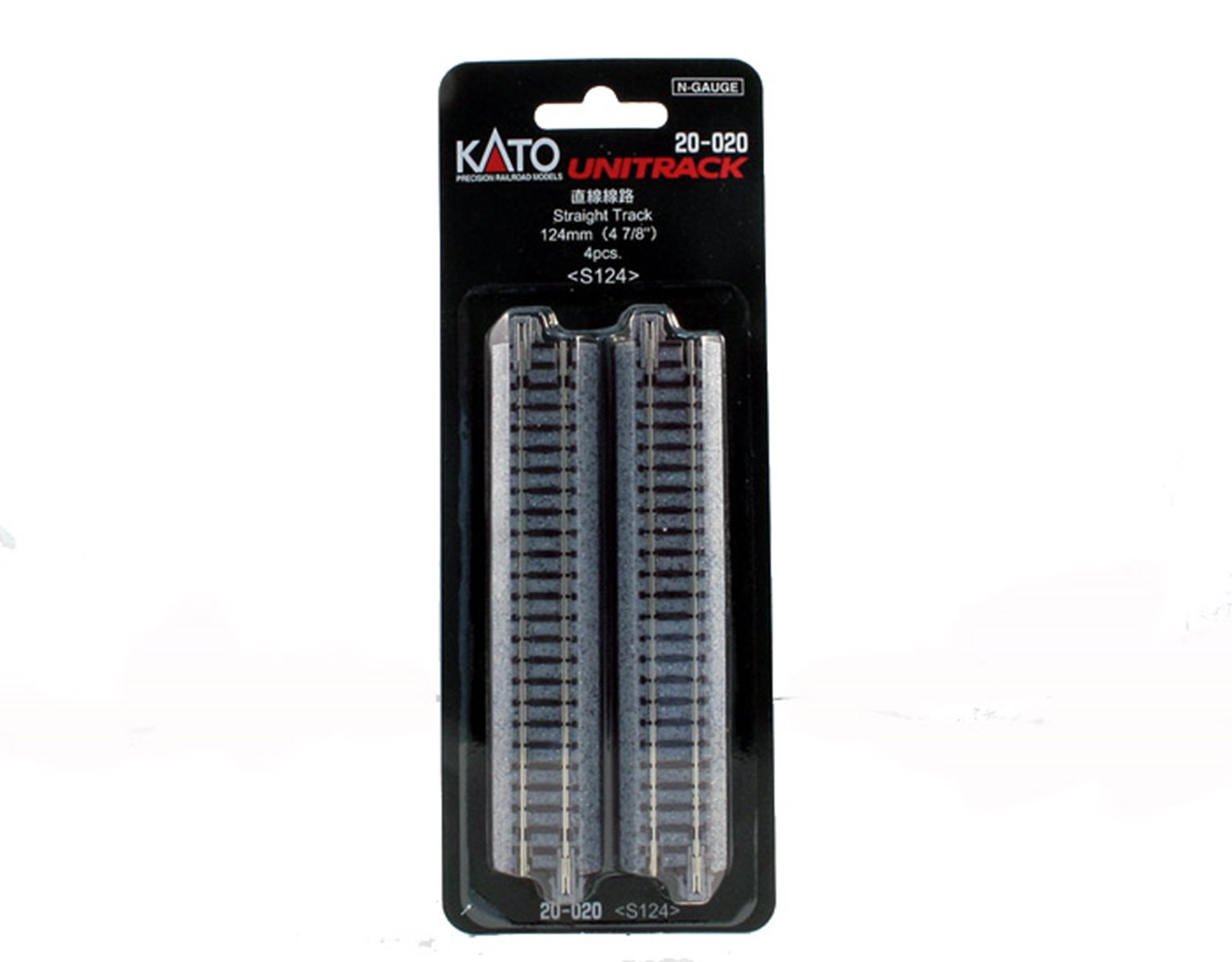 Kato 20-020 Ground Level 124mm Straight Track (4)