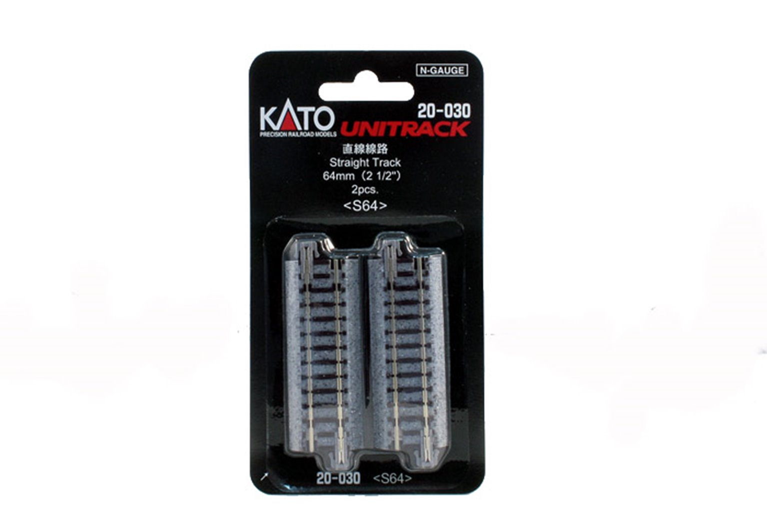 Kato 20-030 Ground Level 64mm Straight Track (2)