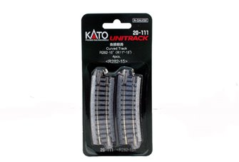 Kato 20-111 Ground Level Radius 282mm Curved Track 15 Deg.(4)