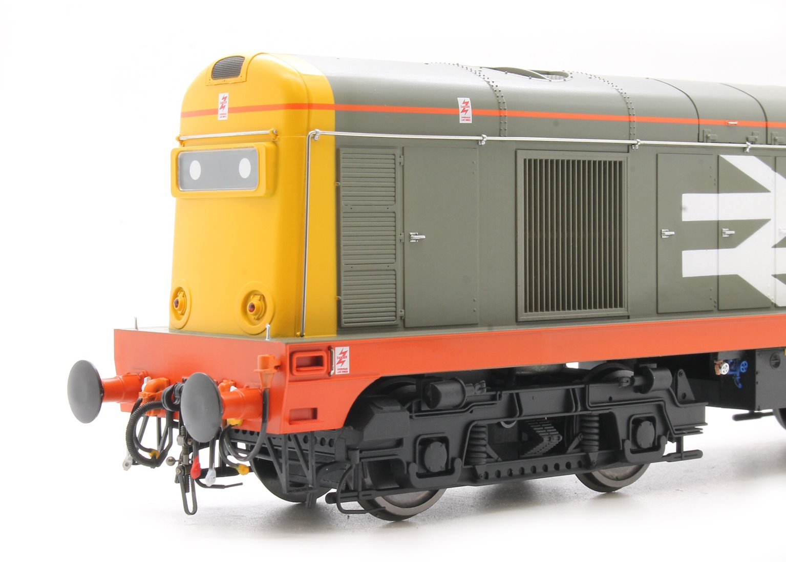 Class 20 in Railfreight Red Stripe Grey livery