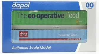 45 Foot Container Hi Cube Twin Pack Argos / Co-Operative (Weathered Edition)