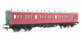 BR 58' Maunsell Rebuilt (Ex-LSWR 48') Six Compartment Brake Third Coach 'S2627S', Maroon