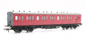 BR 58' Maunsell Rebuilt (Ex-LSWR 48') Six Compartment Brake Composite Coach 'S6405S' - Set 46, Maroon