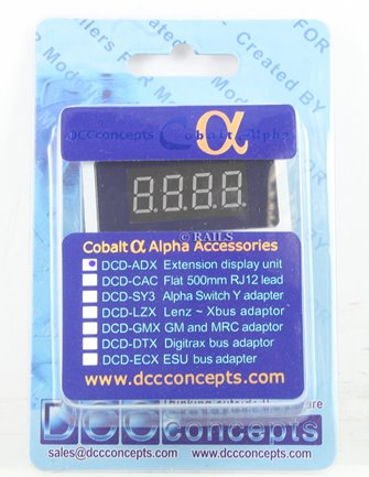 DCC Concepts DCP-ADX COBALT ALPHA Extension Display