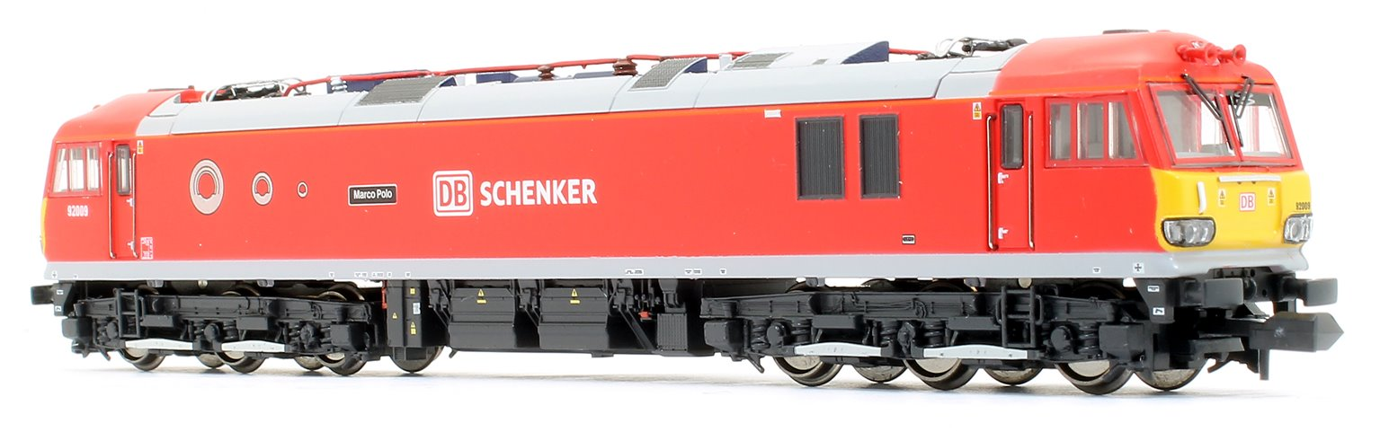 Class 92 92009 Marco Polo DB Schenker Red
