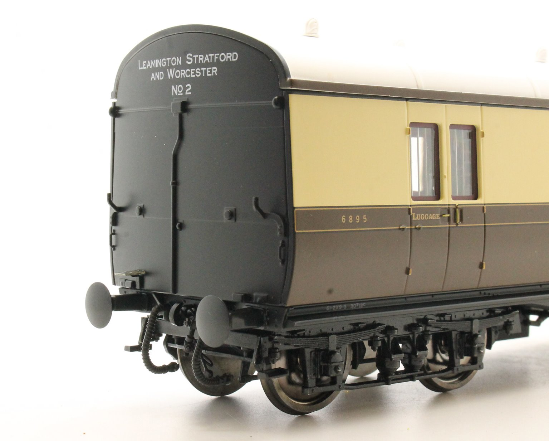 Dapol LHT-602 Suburban B 2 Coach Set GWR Lmingtn/Stford/Worcs 2 C/Cream
