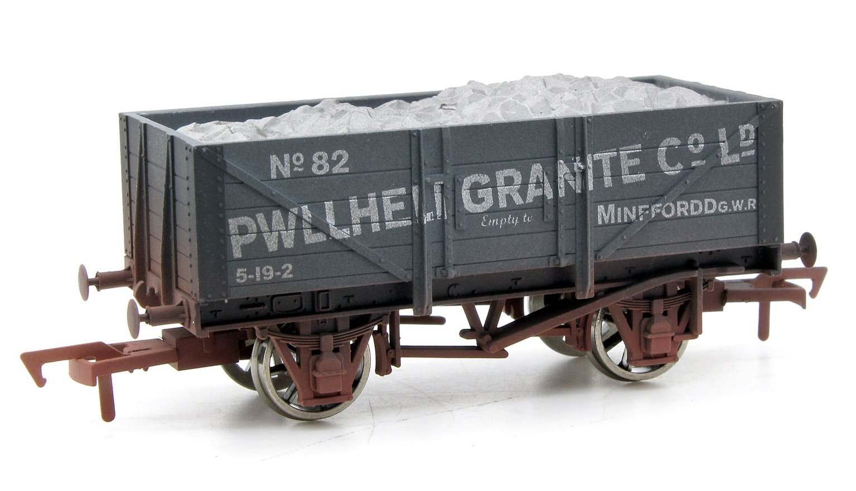 Dapol 4F-051-026 5 Plank Wagon Pwllheli Granite 82 Weathered