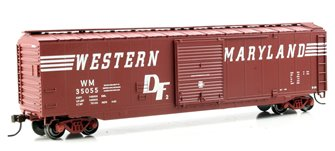 50' Sliding Door Box Car Western Maryland (speed lettering)
