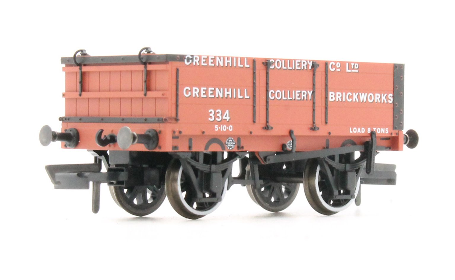 4 Plank Mineral Wagon - Greenhill Colliery No.334