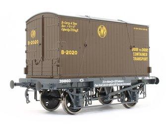 GWR Conflat 39860 BD2 Chocolate Container B-2020 Door to Door