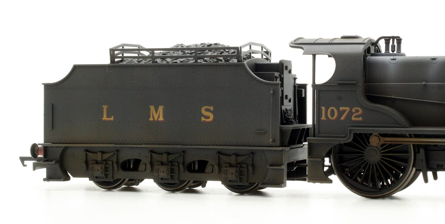 Custom Finished LMS 4-4-0 Compound Locomotive 1072 Weathered