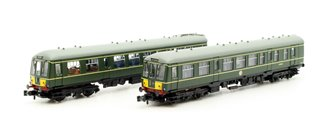 Graham Farish Class 108 2 Car DMU BR Green Small Yellow Panel
