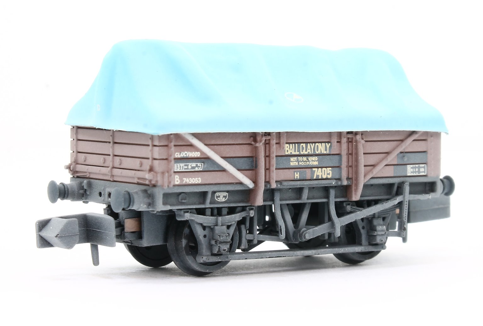 China Clay Wagon BR Bauxite with Hood Weathered