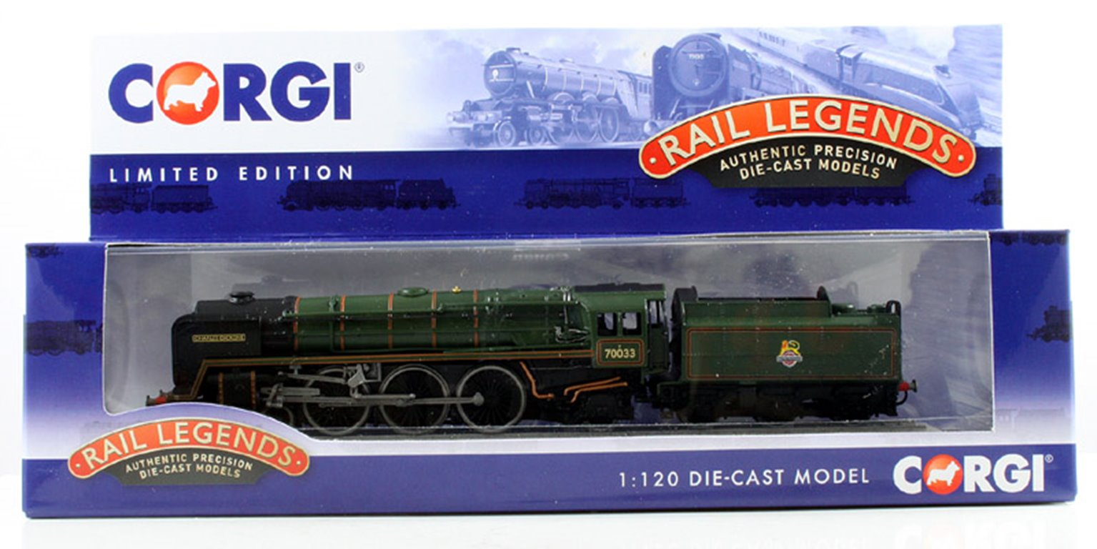 BR Green 4-6-2 Britannia Class 'Charles Dickens' 70033 (Static Diecast Model)