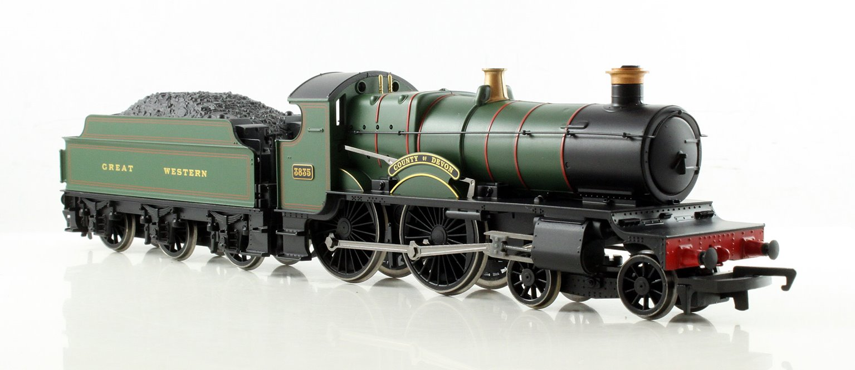 RailRoad GWR 'County Of Devon' County Class Locomotive 3835