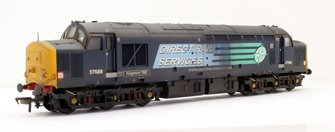 "CLASS 37/5 37688 ""KINGMOOR TMD"" DIRECT RAIL SERVICES COMPASS BLUE LOCOMOTIVE - OO GAUGE -** CUSTOM WEATHERED**"