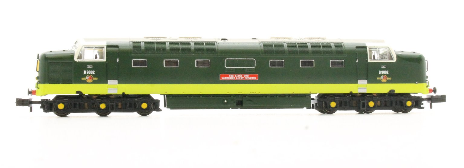 Class 55 D9002 'The Kings Own Yorkshire Light Infantry' BR Green with Half Yellow Ends