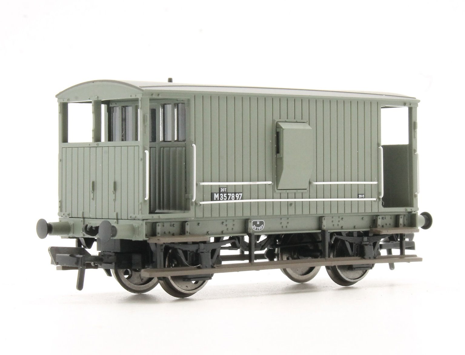 Midland 20T Brake Van BR Grey (with Duckets)
