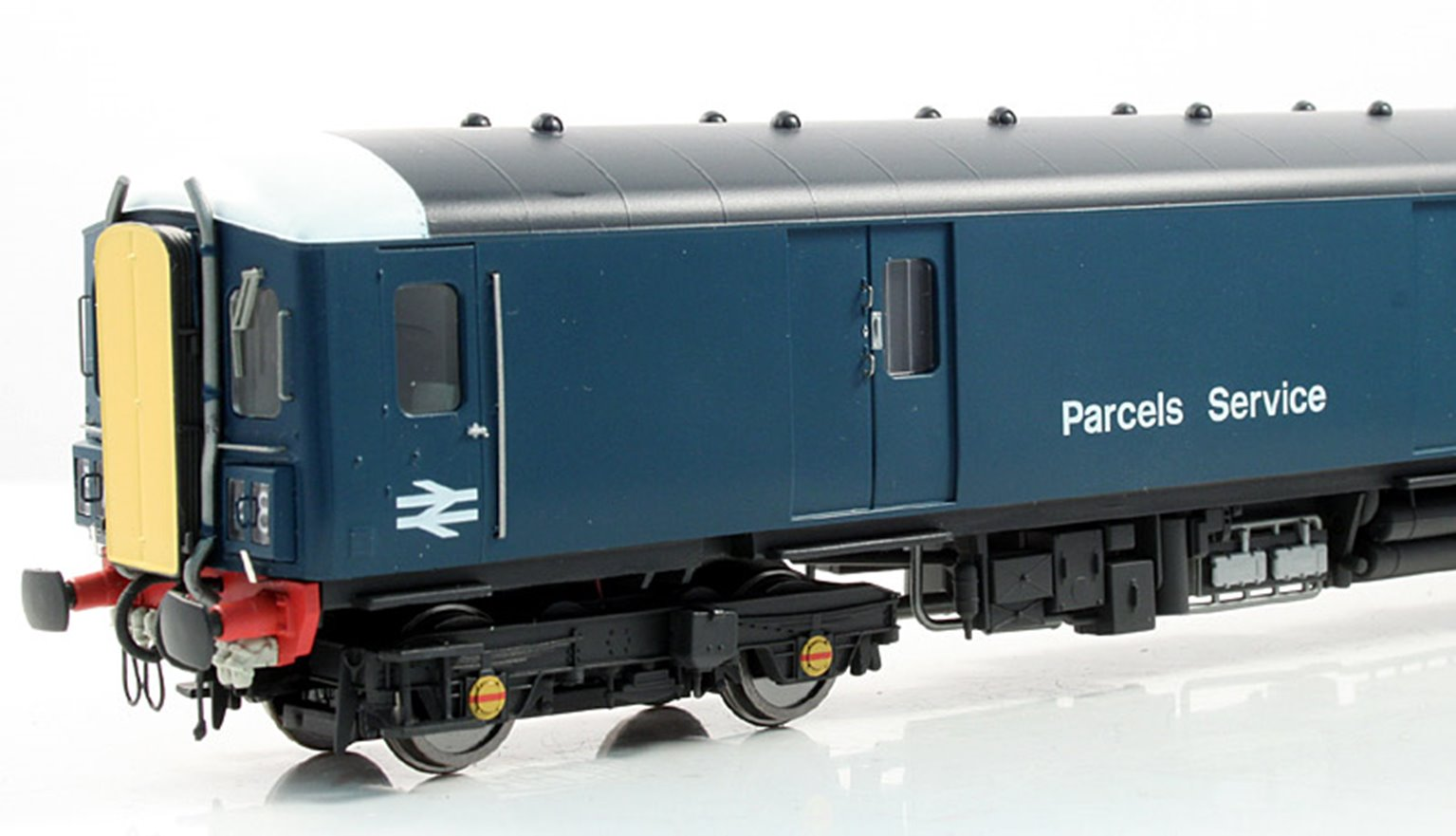 Class 128 Diesel Parcel Unit Early Blue livery with White Cab Roof Domes & Yellow Gangway Door Covers #W55991