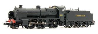 SE&CR N Class Southern SR Black (Sunshine) 2-6-0 Steam Locomotive No.1860