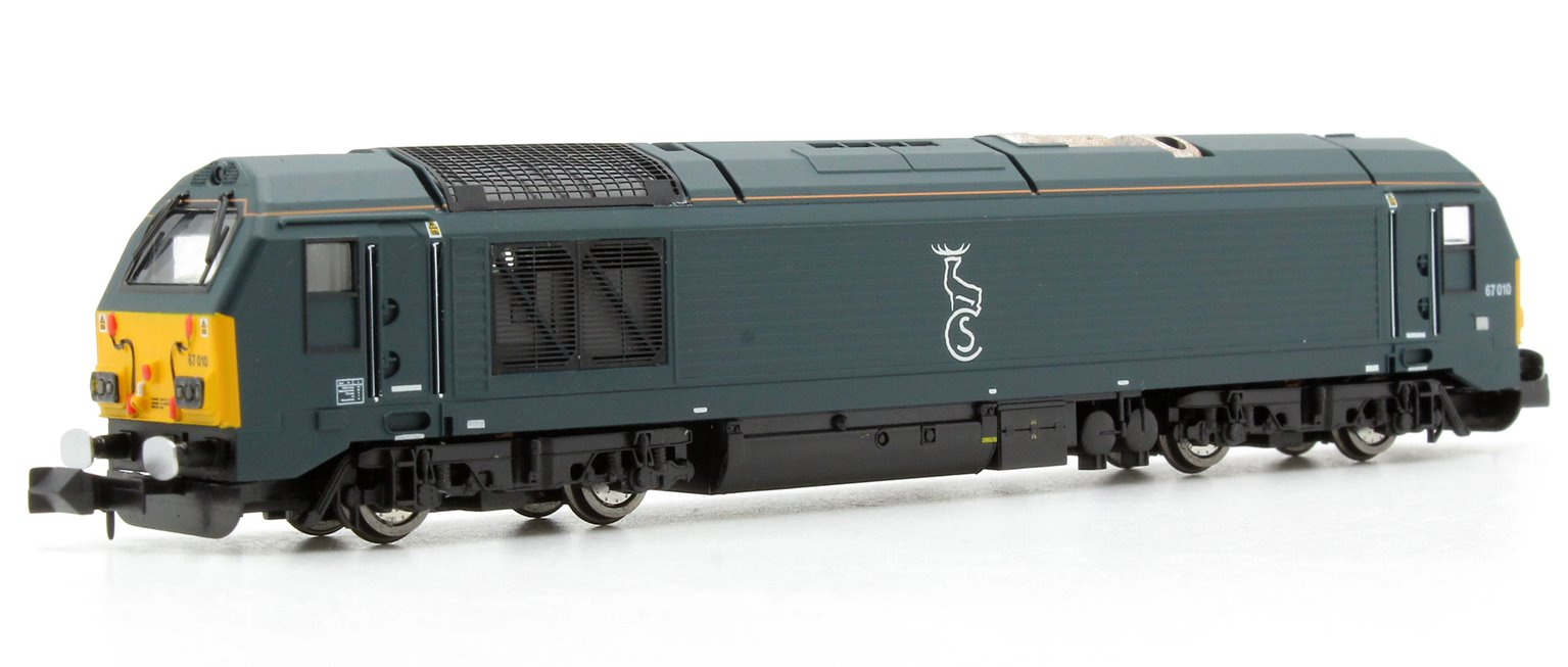 Caledonian Sleeper Class 67 010 Blue (DCC-Fitted)