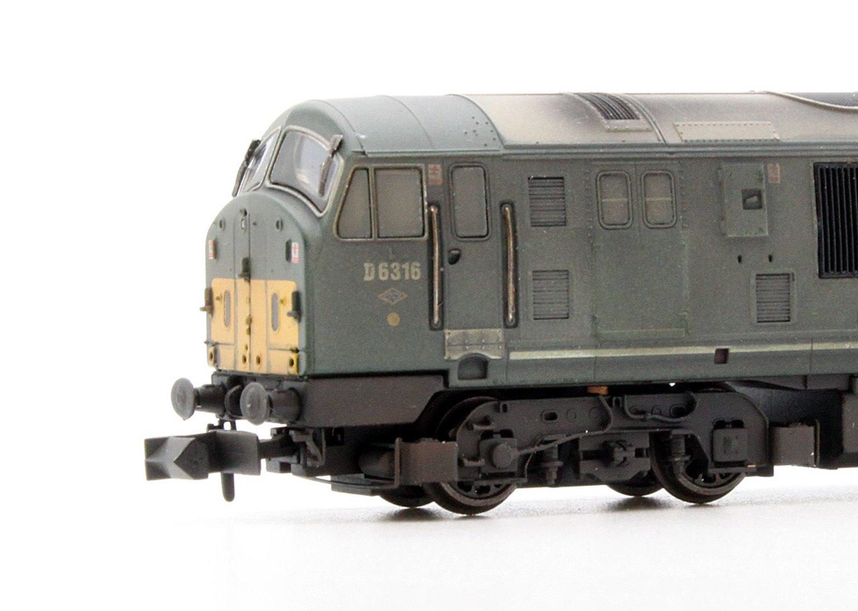Class 22 BR Green Disc Headcode D6316 Weathered