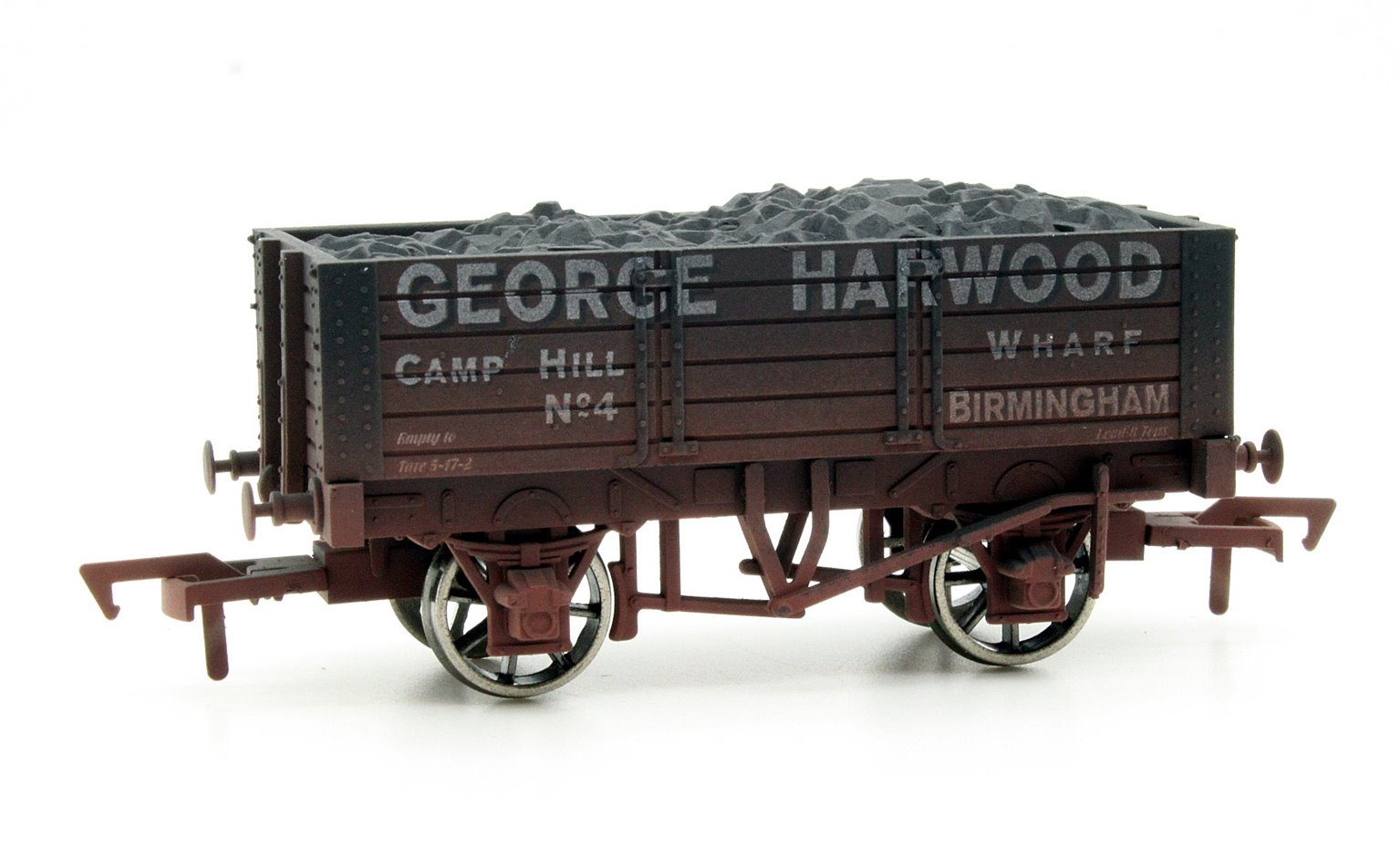 Dapol 4F-052-018 5 Plank George Harwood 9 Ft Wheelbase - weathered