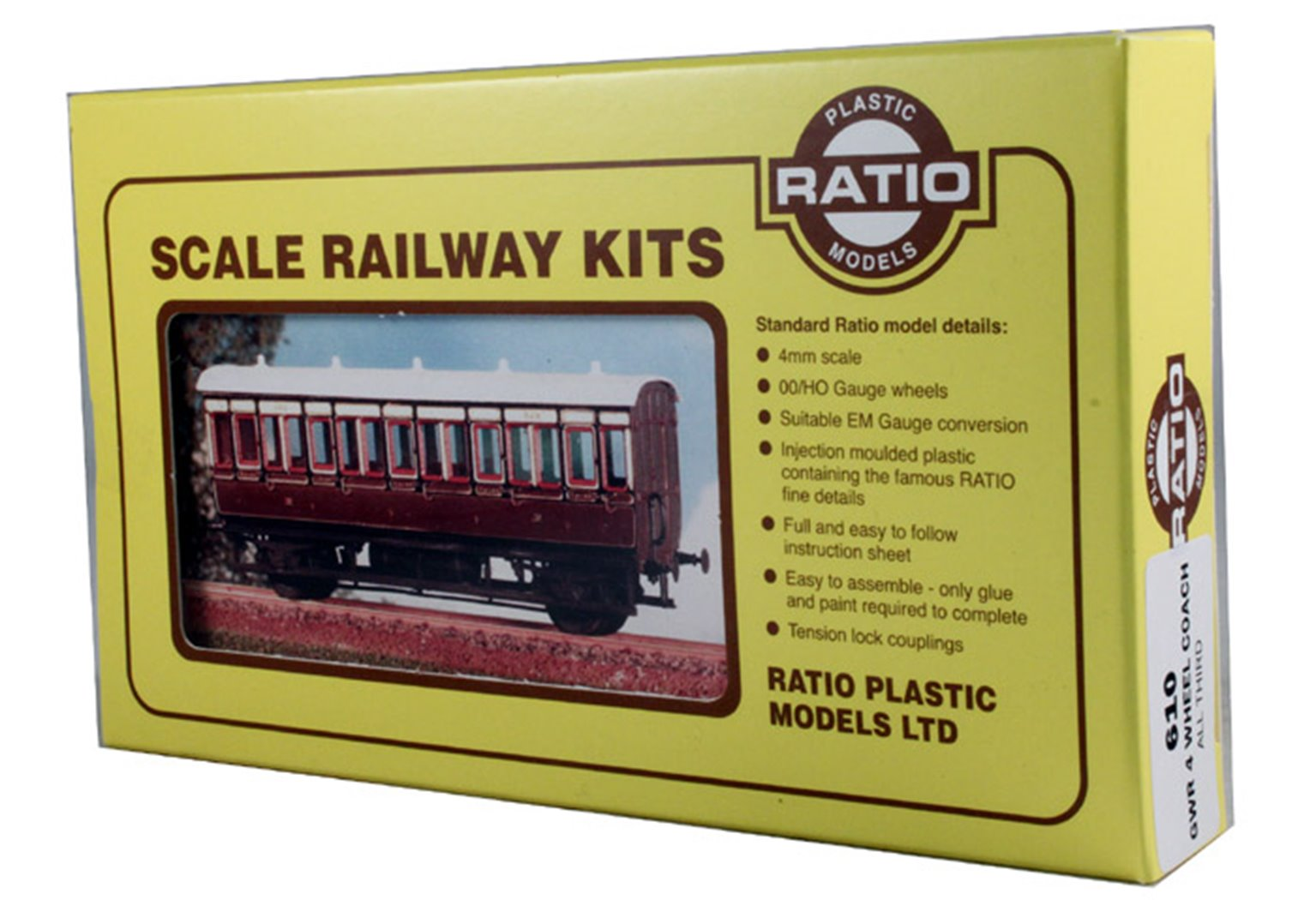 GWR 4 Wheel All Third Coach Kit