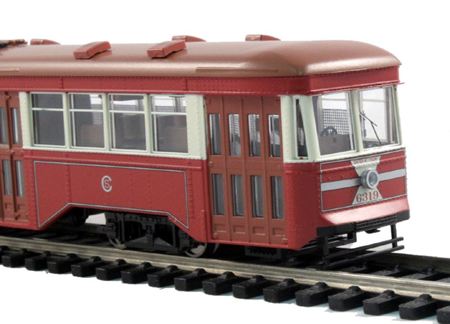 "Peter Witt Street Car w/Full Interior & Lights ""Chicago Surface Lines"" (DCC)"